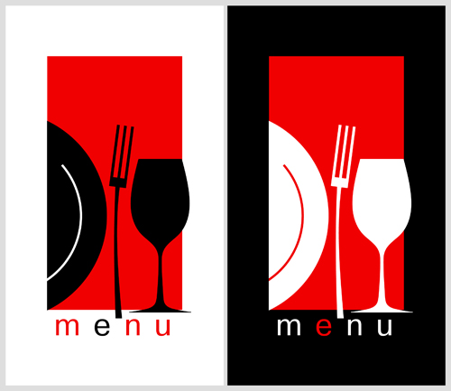 Restaurant menu background vector set 03