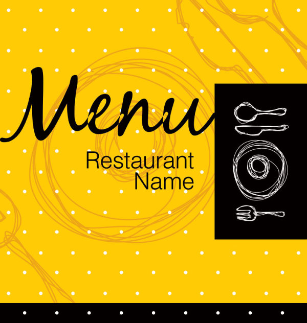 Restaurant menu cover background vector 05