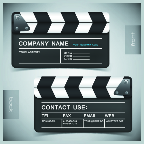 Creative Business Cards Vector background 03