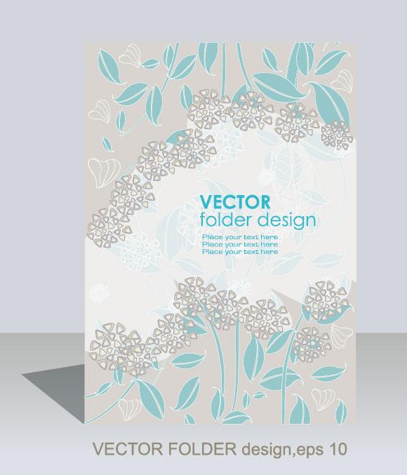folder design vector Floral background 05