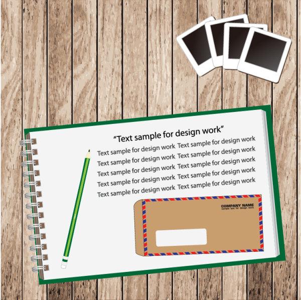 Set of Notepad design elements vector 01