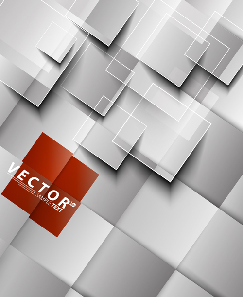 3D squares with background design vector 04