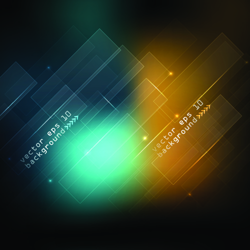 Abstract Black Backgrounds elements vector 01