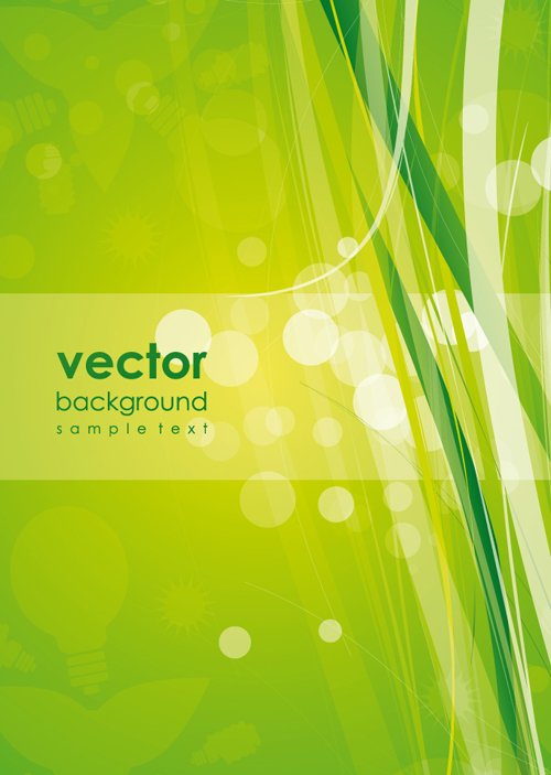 Abstract Green vector Backgrounds 01