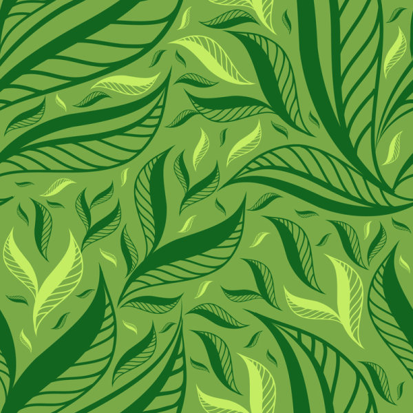 Green Leaf background vector 01