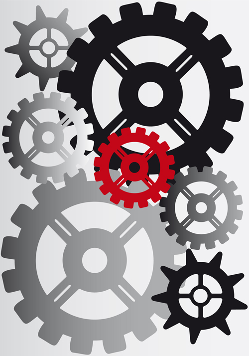 Set of Gears assemble vector backgrounds 01