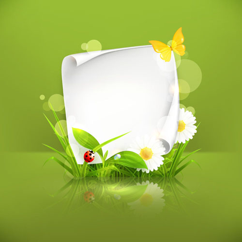 Spring green grass Background vector 02