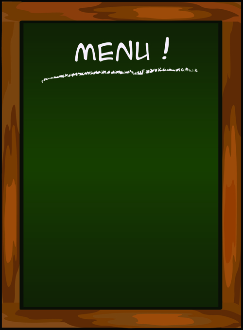 black Menu vector background 02