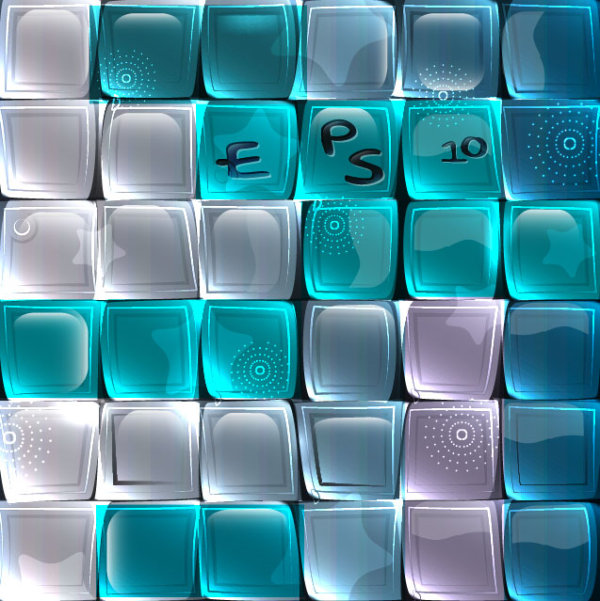 Creative Glass vector backgrounds set 04