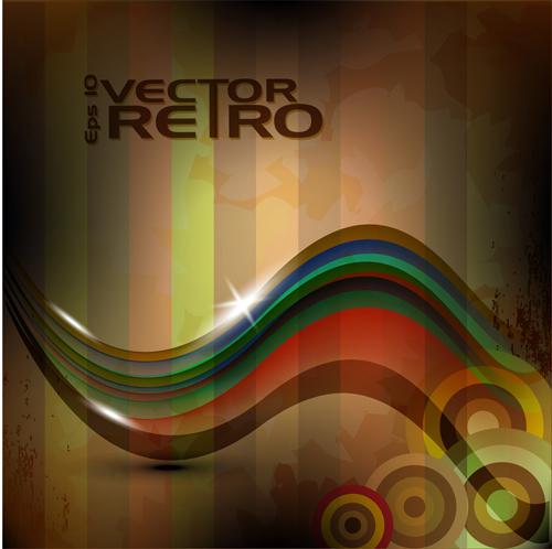 Set of retro Grunge background vector 05