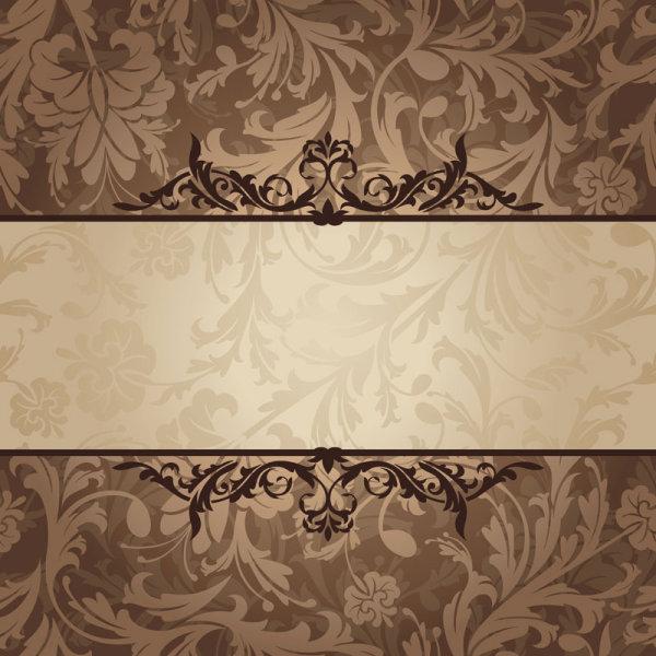vintage floral frame vector backgrounds set 01 free download
