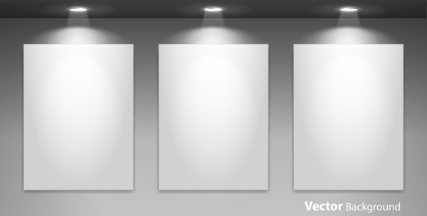 Spotlight Display Wall Background Vector 02 Free Download