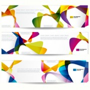 Abstract banner with Colored circular design vector 05