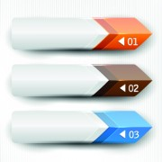 Banners with numbers Creative design 04 vector