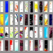 Huge collection of Modern Website benner vector graphic 05