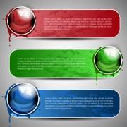 Set of Art banner for website vector 01