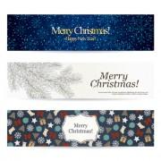 Shiny Christmas style banner design vector 03