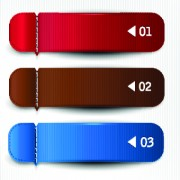 Banners with numbers Creative design 01 vector