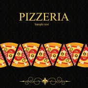 Pizza Menu elements vector 04
