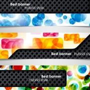 Set of hybrid style vector banner 02