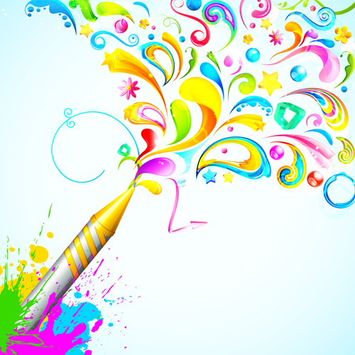 dynamic holi vector background 05
