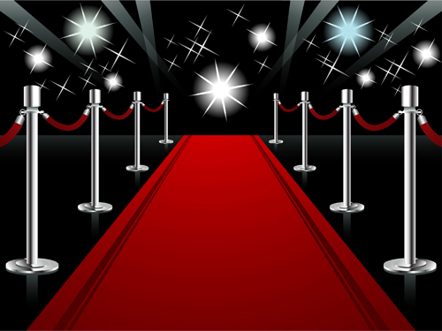 Ornate Red Carpet Backgrounds Vector 05 Free Download