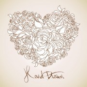 Creative Floral hearts design vector graphics 05