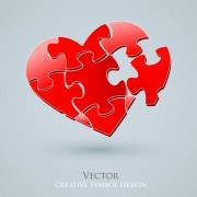 Creative hearts vector  01
