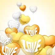 Heart-shaped Balloon design vector 01