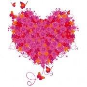 Set of Floral Heart elements vector 05