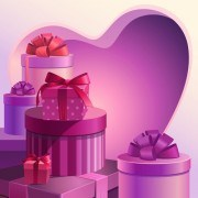 Sweet Valentine Day hearts Cards vector 04