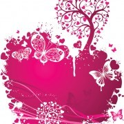 Valentines Day Romantic ornaments vector 04