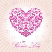 Vector Floral heart Valentine illustration
