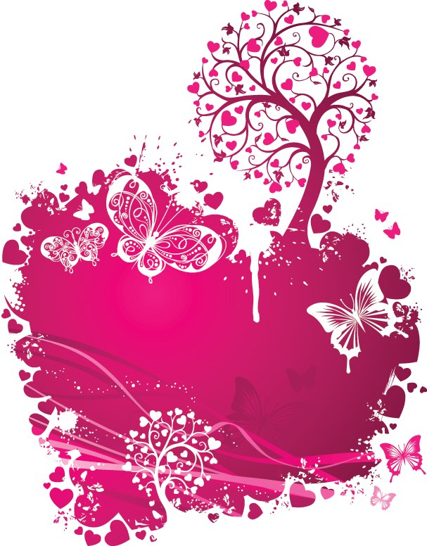 Valentines Day Romantic ornaments vector 04