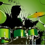 Music with Drums design elements vector 03