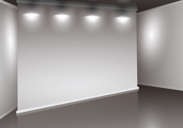 Set of Interior showroom and light wall vector backgrounds 03 Free download