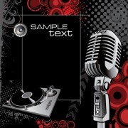 Vector set of Microphone design elements graphics 01