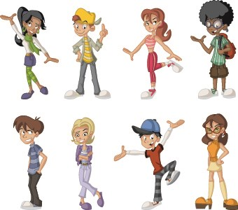 cartoon different cartoons vector animated dancing clipart walking cliparts clip collection drawing graphic vectors eps format graphics statistics website svg