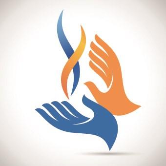 Hands logo design vector 02