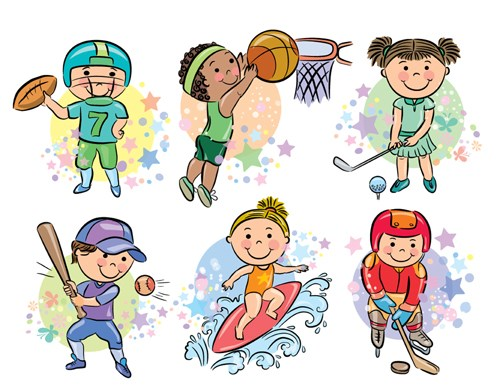cartoon sports vector clipart sport sporting easy healthy freedesignfile drawings google library clip ai visit file