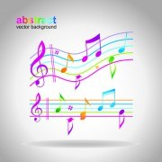 Elements of Sheet Music and design vector 03