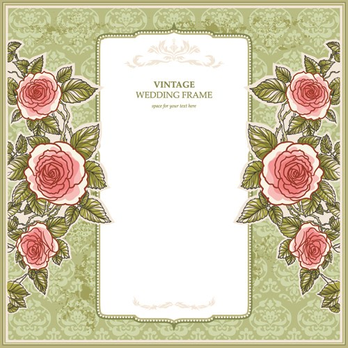 Flower Svg Library Download For Wedding Invitations: Flower Wedding Invitations 02 Vector