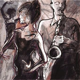 Jazz poster publicize template vector 01