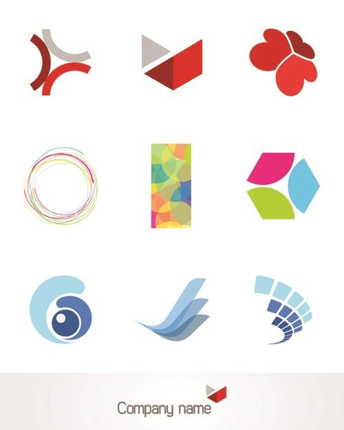 Creative 3d logo design vector set 01 free download for Logo design online free 3d