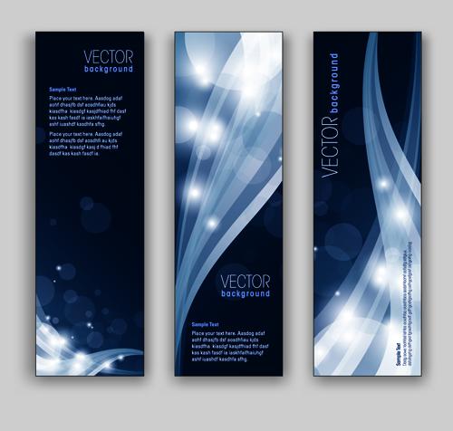 blue style vertical banner vector 03