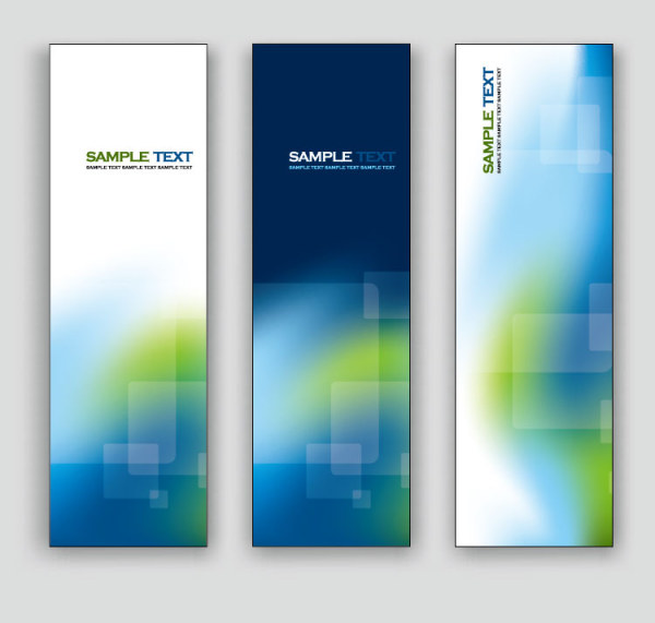 exquisite vertical banner design vector 02