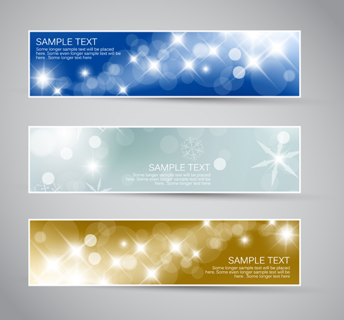 Shiny Christmas style banner design