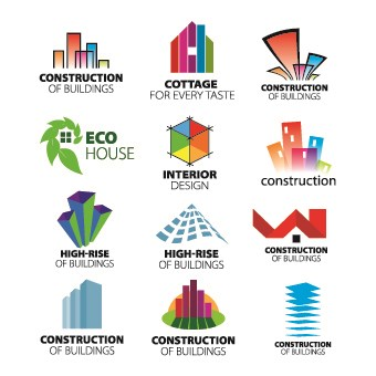 Modern logo design vector 03 free download for Modern interior design logos