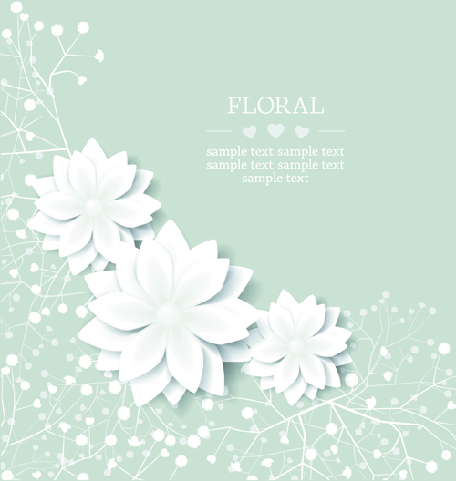 Paper flowers background vector 05 free download paper flowers background vector 05 mightylinksfo