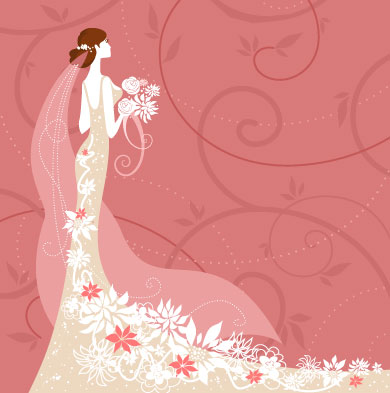 Wedding Card Background 02 Vector Free Download
